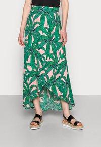 Fabienne Chapot - CORA SKIRT - Maxi skirt - lovely pink/emerald - 0