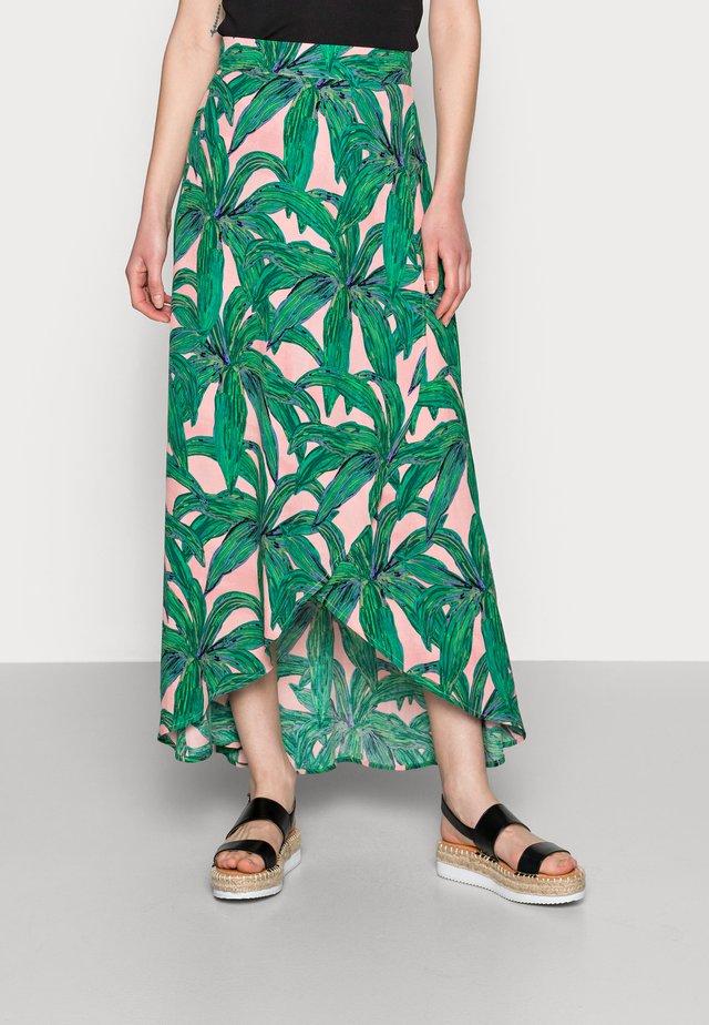 CORA SKIRT - Maxi skirt - lovely pink/emerald