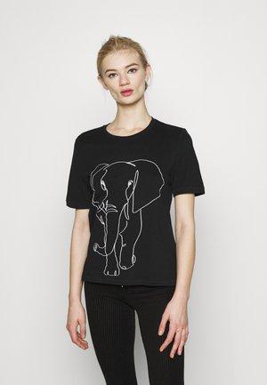 ONLZENTA LIFE BOXY  - T-shirts med print - black