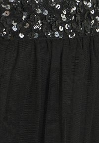 Maya Deluxe - TIERED WITH SEQUIN WAISTBAND - A-line skjørt - black - 2