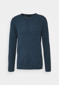 SLHROCKY  - Stickad tröja - dark sapphire/twisted blue mirag