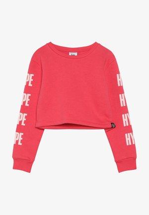 CROP TEE BLOCK - Sweatshirt - pink