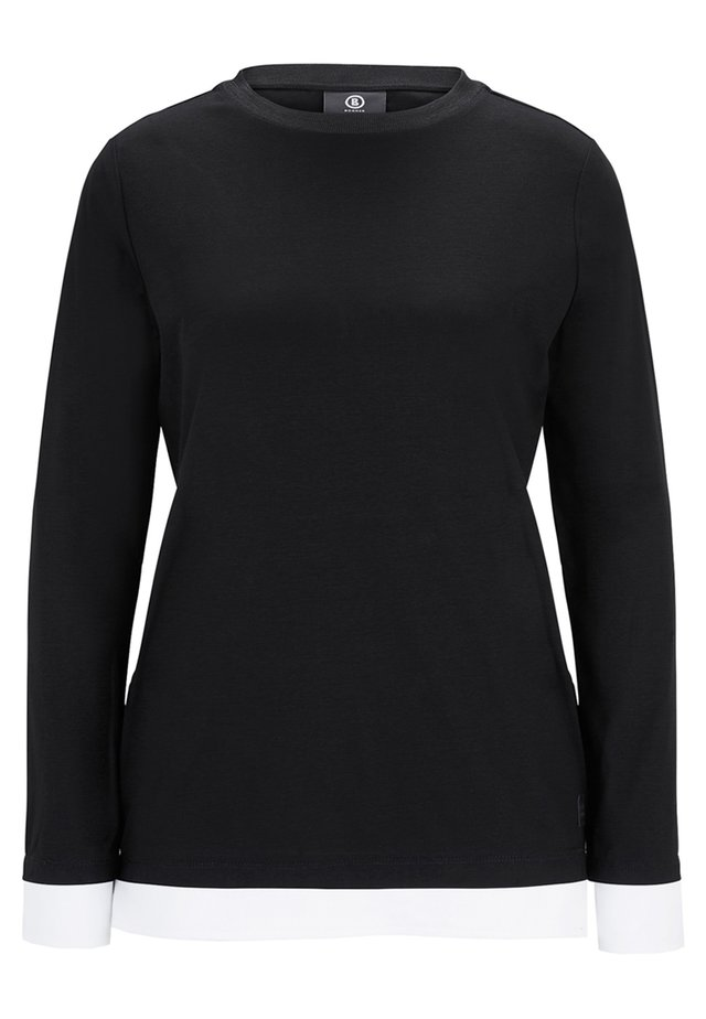 JUNA - Long sleeved top - black