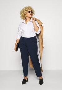 MY TRUE ME TOM TAILOR - SLEEK SUIT PANTS - Bukse - real navy blue - 1