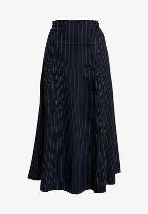 MIDI GODET SKIRT - A-line skirt - navy blue