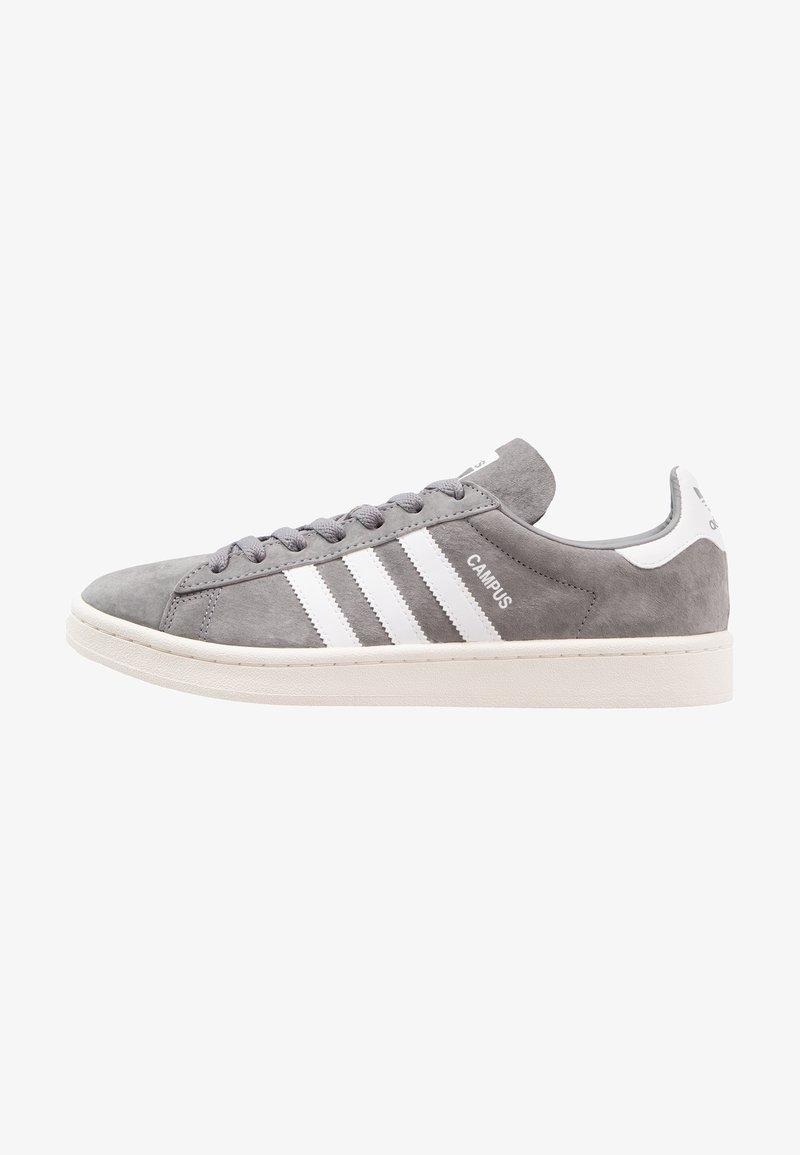 adidas Originals - CAMPUS - Trainers - grey three/footwear white/chalk white