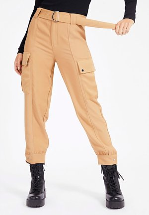 SATIN - Cargo trousers - beige