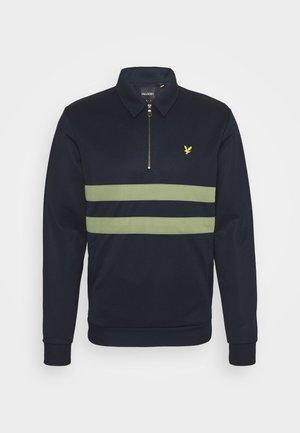 ZIP WIDE STRIPE - Sweatshirt - dark navy
