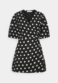 Faithfull the brand - GODIVA WRAP DRESS - Denní šaty - black - 4