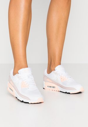 AIR MAX 90 - Sneakersy niskie - white/platinum tint/barely rose/crimson tint