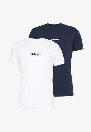 SMALL LOGO CENTRAL 2 PACK - T-shirt basic - white/navy