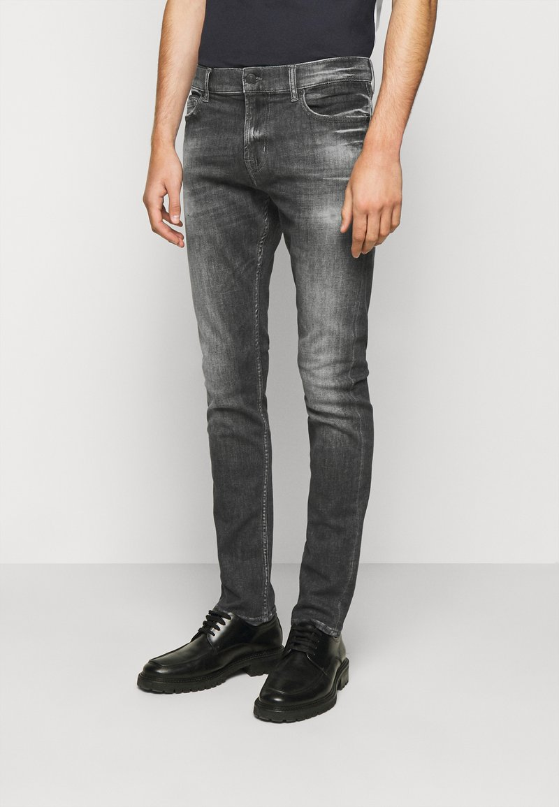 7 for all mankind - RONNIE STRETCH TEK MASSIVE - Džíny Slim Fit - dark grey