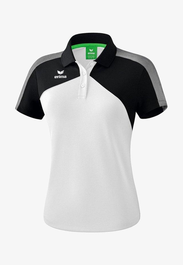 PREMIUM ONE 2.0 POLOSHIRT DAMEN - Polo shirt - weiß / schwarz