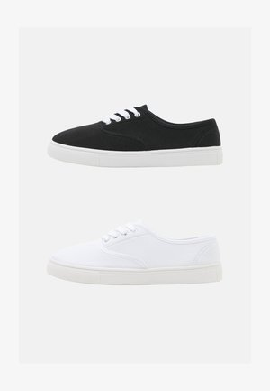 2 PACK - Trainers - black/white