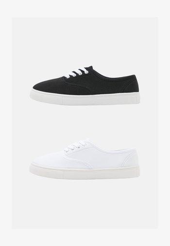 2 PACK - Tenisky - black/white