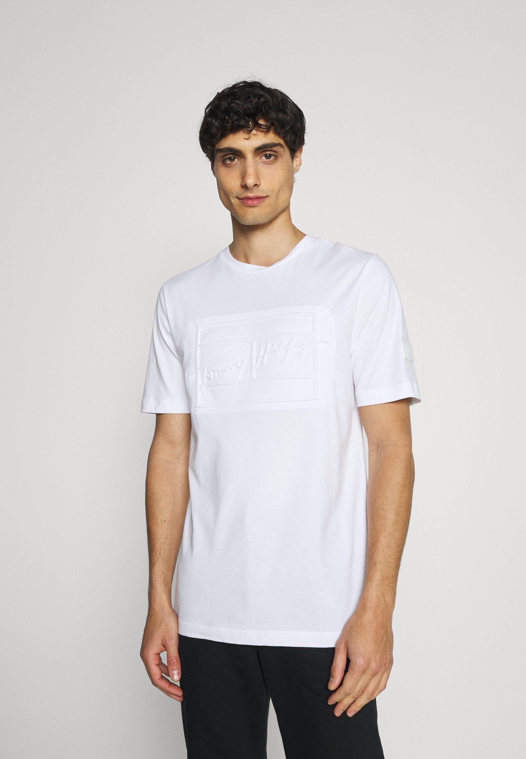 Men SIGNATURE BOX FRONT TEE - Print T-shirt