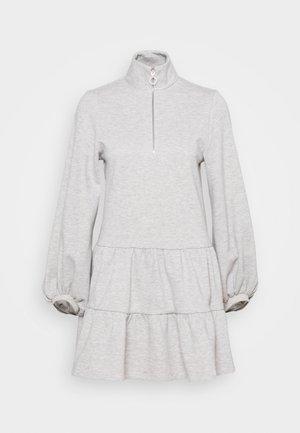 ZIP UP TIER MINI - Vapaa-ajan mekko - grey marl