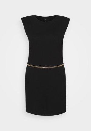 SHOULDER PAD DRESS - Sukienka koktajlowa - black