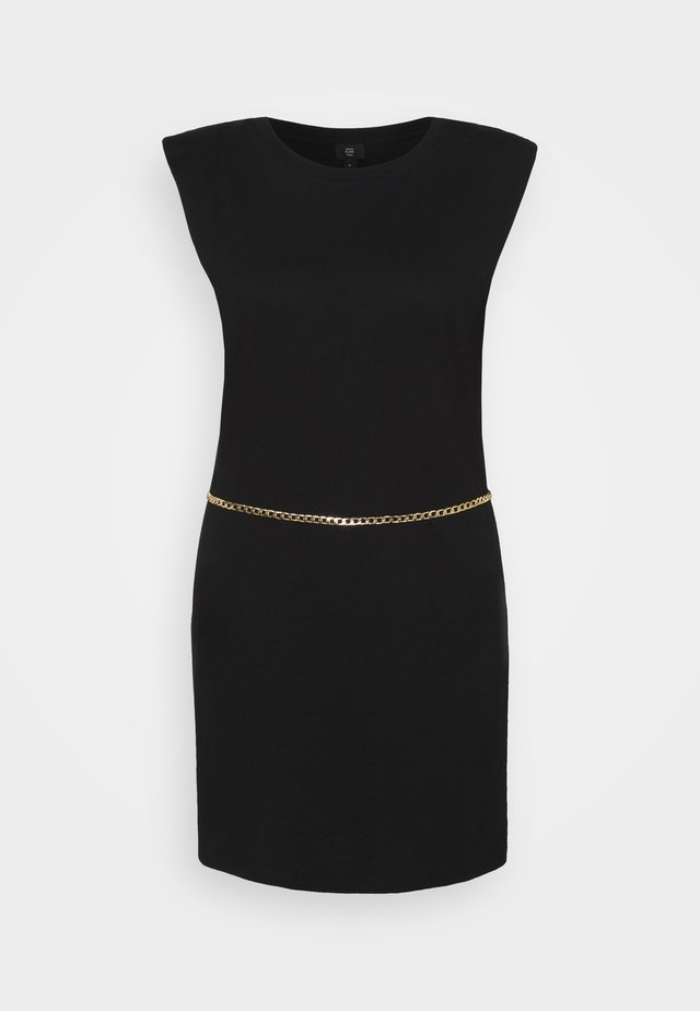 SHOULDER PAD DRESS - Cocktailjurk - black