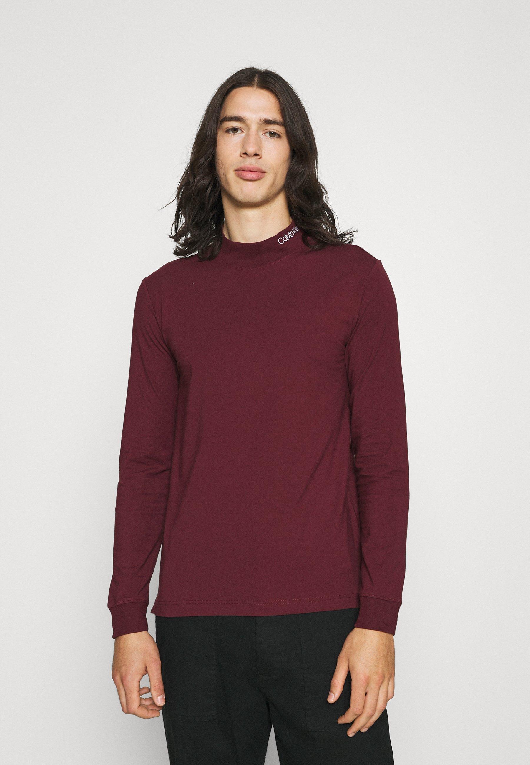 Men SLIM STRETCH MOCK - Long sleeved top