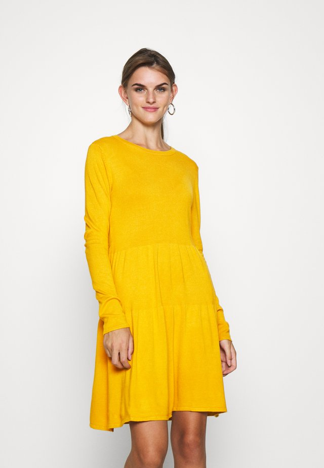 VIBOLONSIA - Jumper dress - mineral yellow