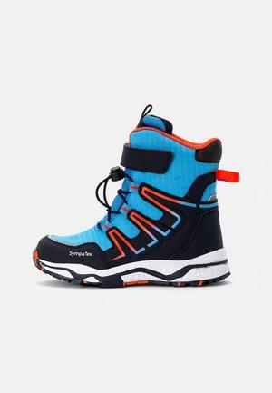 LINUS SYMPATEX - Winter boots - jeans/navy orange