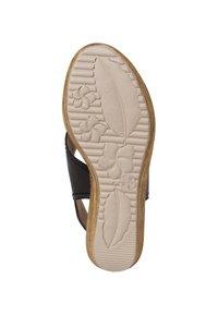 Jana - Wedge sandals - black - 3