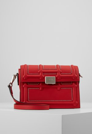 GISELLE - Across body bag - red/silver
