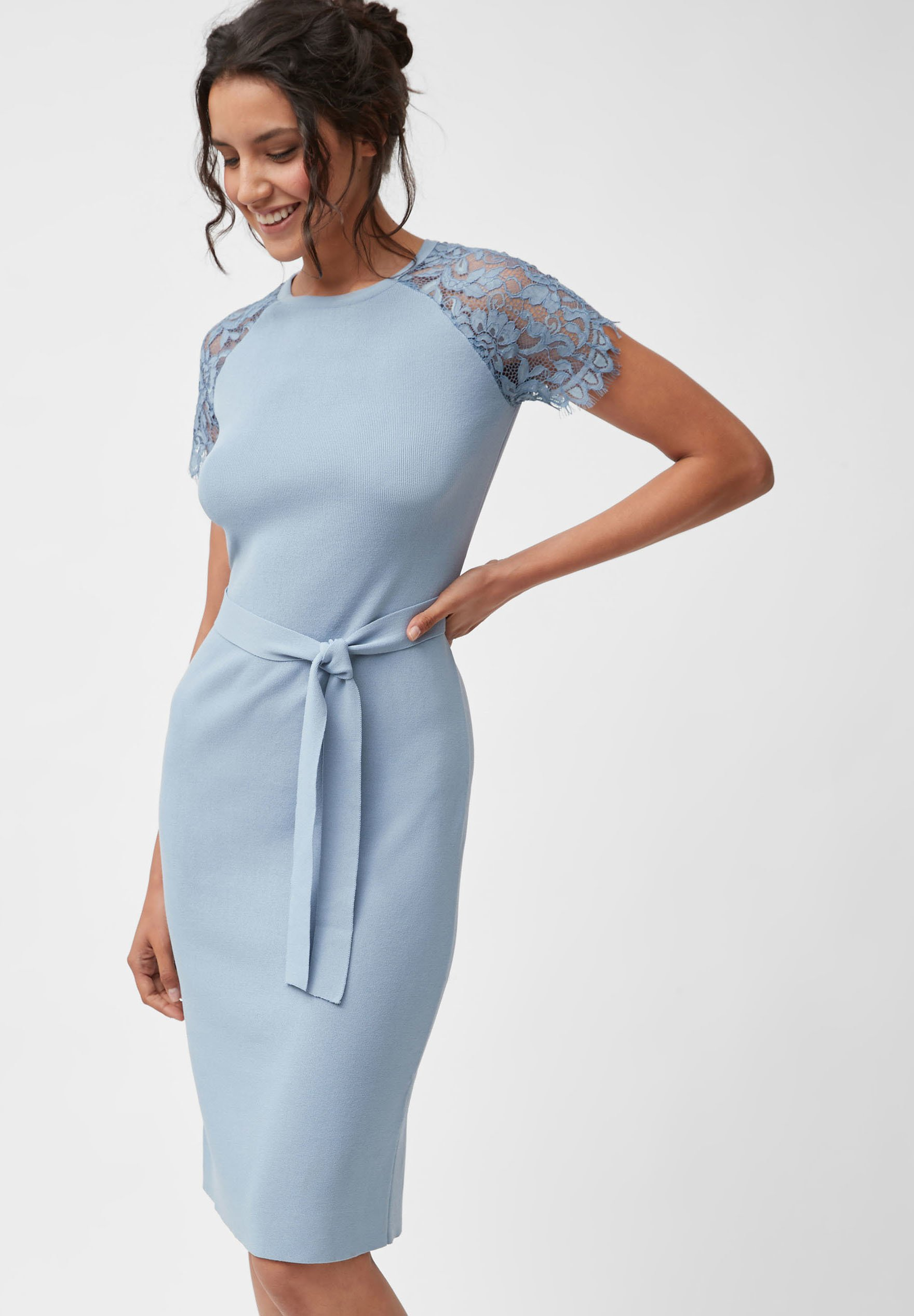 next blue lace cap sleeve dress - cocktailkleid/festliches