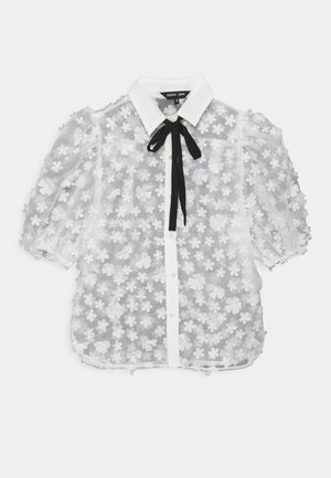 SNOWY GRASSLAND PUFF SLEEVE  - T-shirts med print - ivory