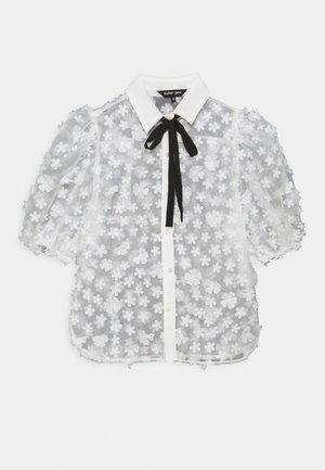 SNOWY GRASSLAND PUFF SLEEVE  - Print T-shirt - ivory