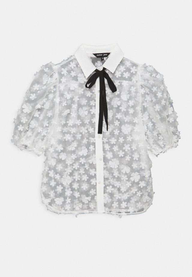 SNOWY GRASSLAND PUFF SLEEVE  - Camiseta estampada - ivory