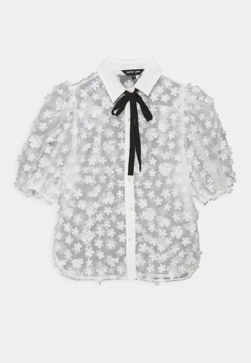 Sister Jane - SNOWY GRASSLAND PUFF SLEEVE  - Print T-shirt - ivory