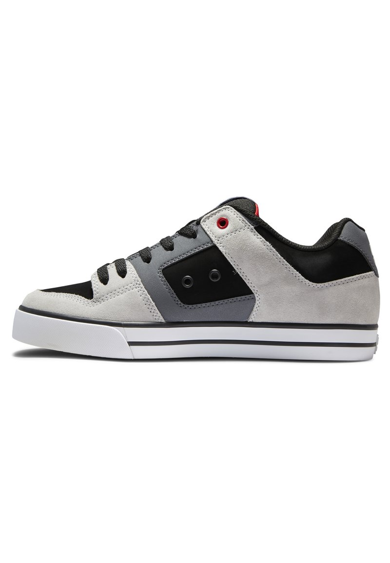 DC Shoes - PURE - Obuwie deskorolkowe - black/grey/red
