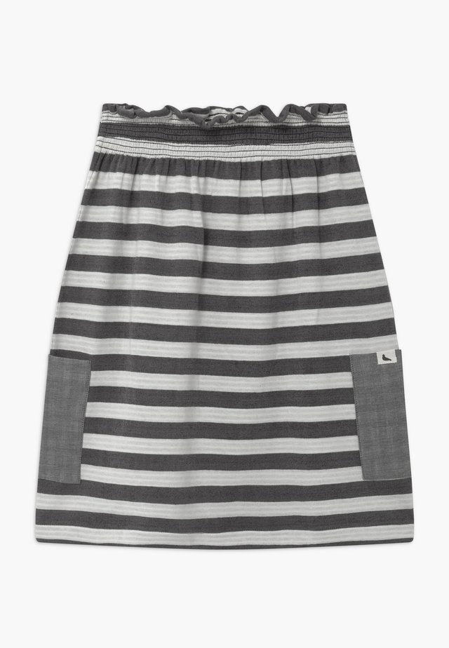 REVERSIBLE STRIPE MIDI - Gonna a campana - monochrome
