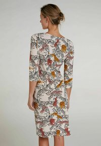 Oui - Day dress - offwhite red - 2