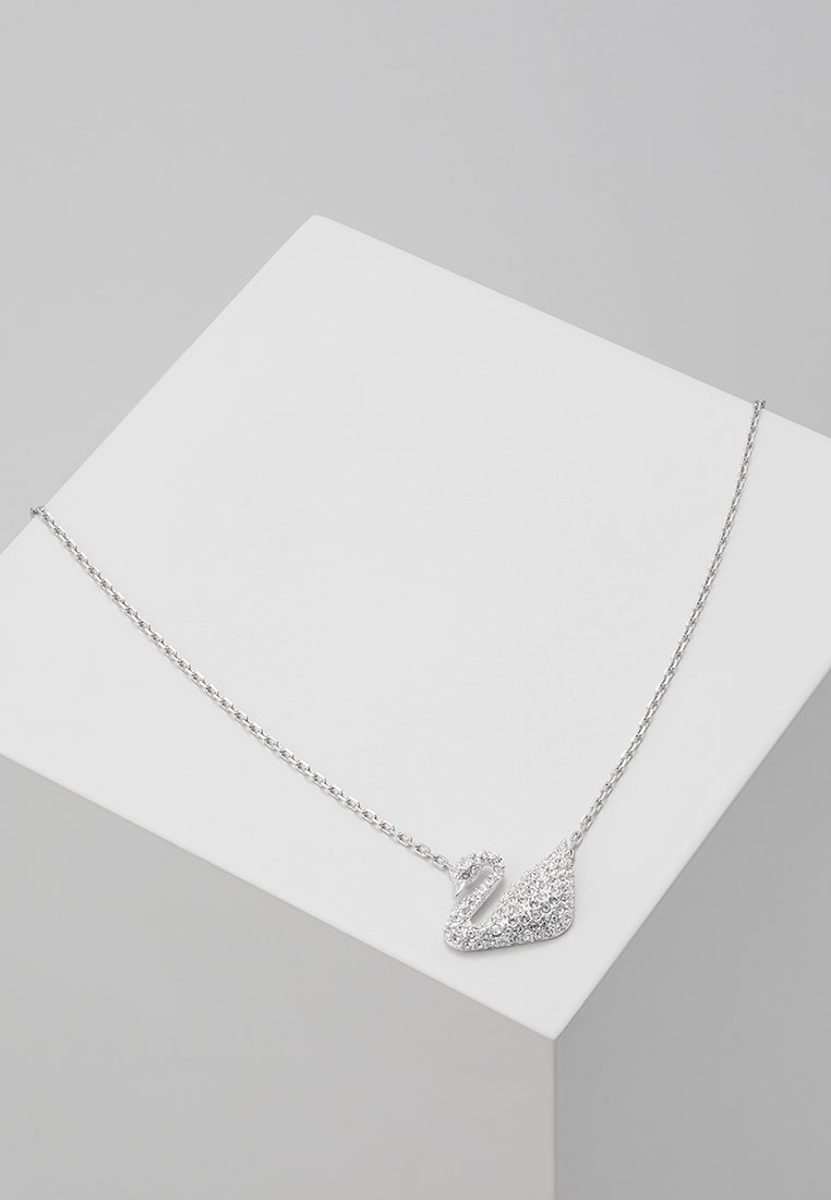 Swarovski - SWAN NECKLACE  - Necklace - silver-coloured
