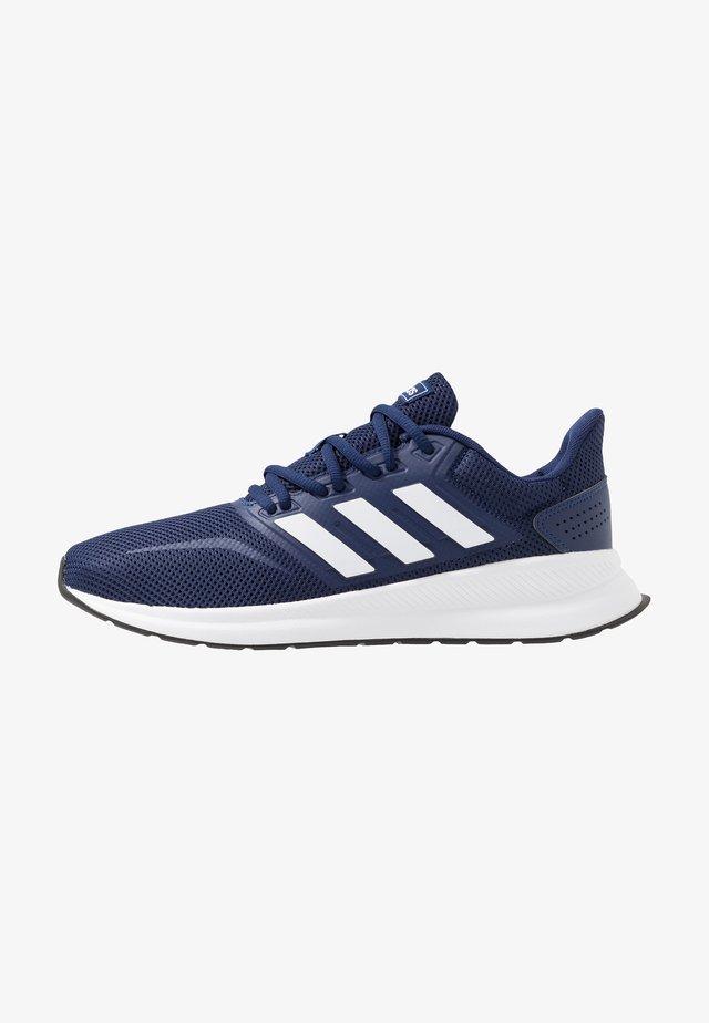 RUNFALCON - Neutral running shoes - dark blue/ftwr white/core black