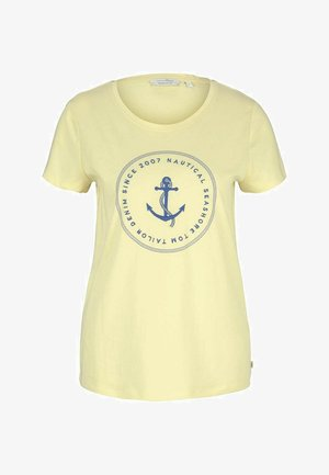 ORGANIC BASIC PRINT TEE - Print T-shirt - soft yellow