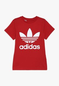 adidas Originals - TREFOIL - Print T-shirt - red - 0