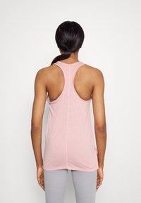 Nike Performance - YOGA LAYER TANK - Sportshirt - pink glaze/heather/white/rust pink - 2