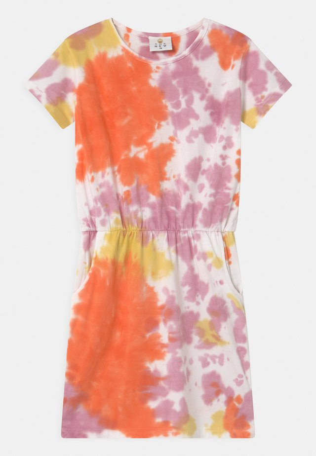UBERTA  - Robe en jersey - nectarine