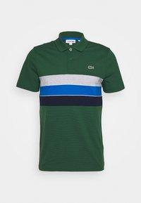 green/navy blue-utramarine/silver chine/white