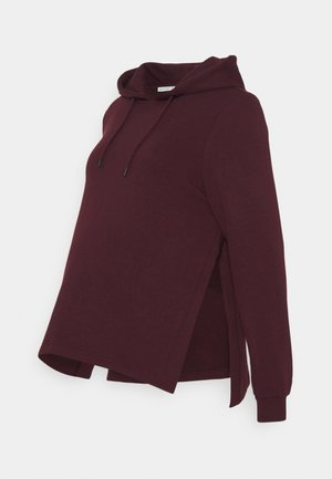 NURSING HOODIE WITH SLIT - Mikina s kapucí - red