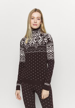 BETTY SKI BASE  - Long sleeved top - black cherry