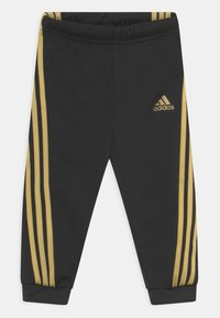 adidas Performance - SHINY SET UNISEX - Survêtement - black/gold metalic - 2