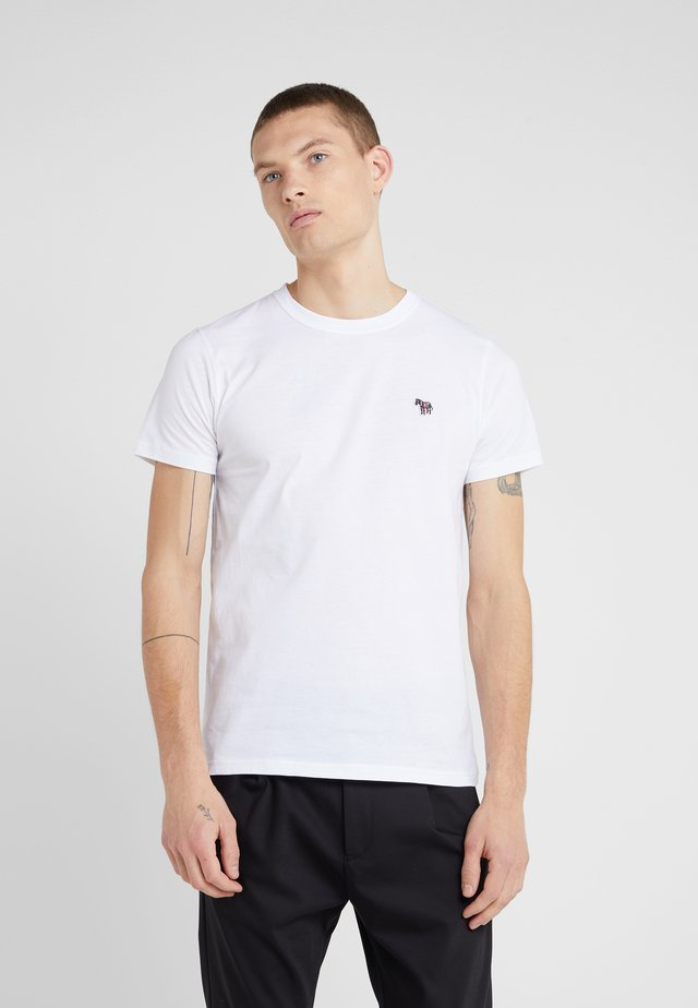 SLIM FIT ZEBRA - T-shirt basic - white