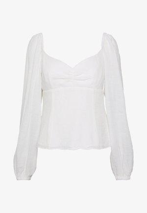 PEARL TOP - Bluzka - white