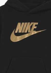 Nike Sportswear - SPORTSWEAR CLUB HOODIE - Hoodie - black/metallic gold - 2