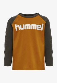 Hummel - Long sleeved top - deep lichen green - 0